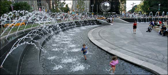 New York Architecture Images Columbus Circle Fountain
